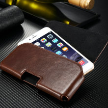 New design leather pouch cover Belt Clip mobile phone case for iphone 6 6s 5 5s for Samsung galaxy S3 S4 S5 S6 Note 3 4 5 case