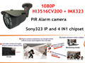 Latest Sony323 Sensor 1080P H.264+ PIR and POE IP Camera