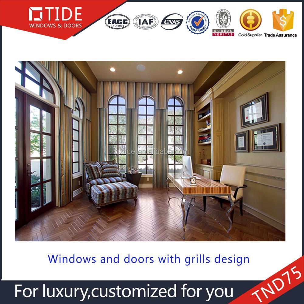 Beautiful Aluminum And Wooden Window Grills Design Windows Door