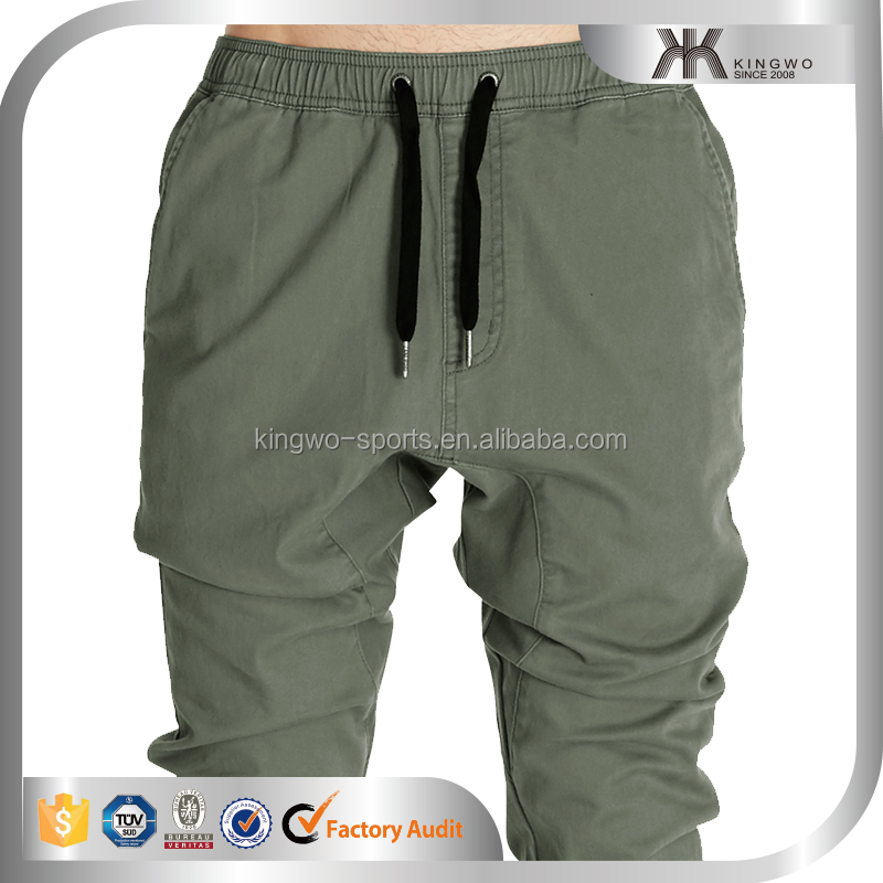Solid Men Track Pants, Baggy Harem Pants, Man Elastic Leg Opening Jogger Pants