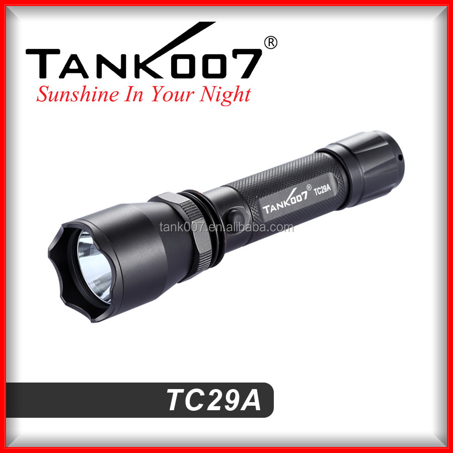 Best 18650 battery <strong>operated</strong> lights police rechargeable security LED flashlights TC29A