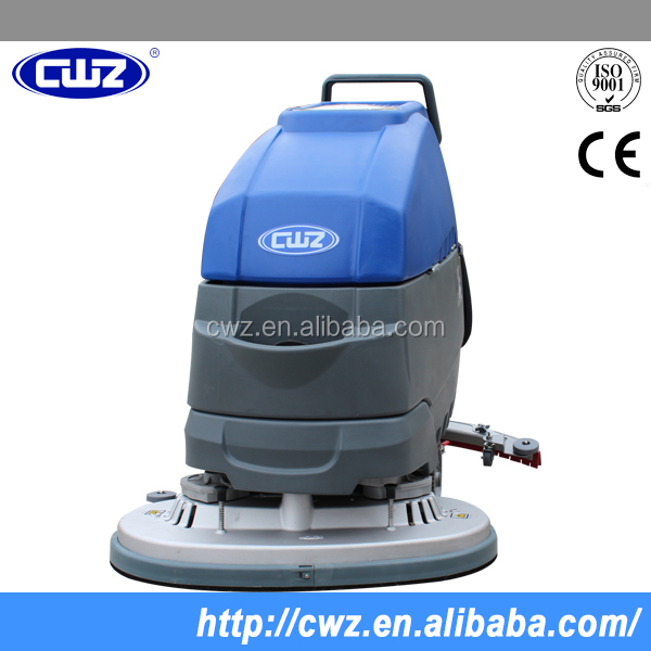 Dual brush hand held floor scrubber polisher machine