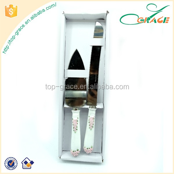 wedding party supplies cake knife server gift set