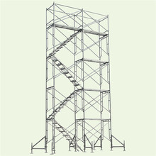 High strength China factory hot sale Q345 Q235 steel electric ringlock scaffolding for building material