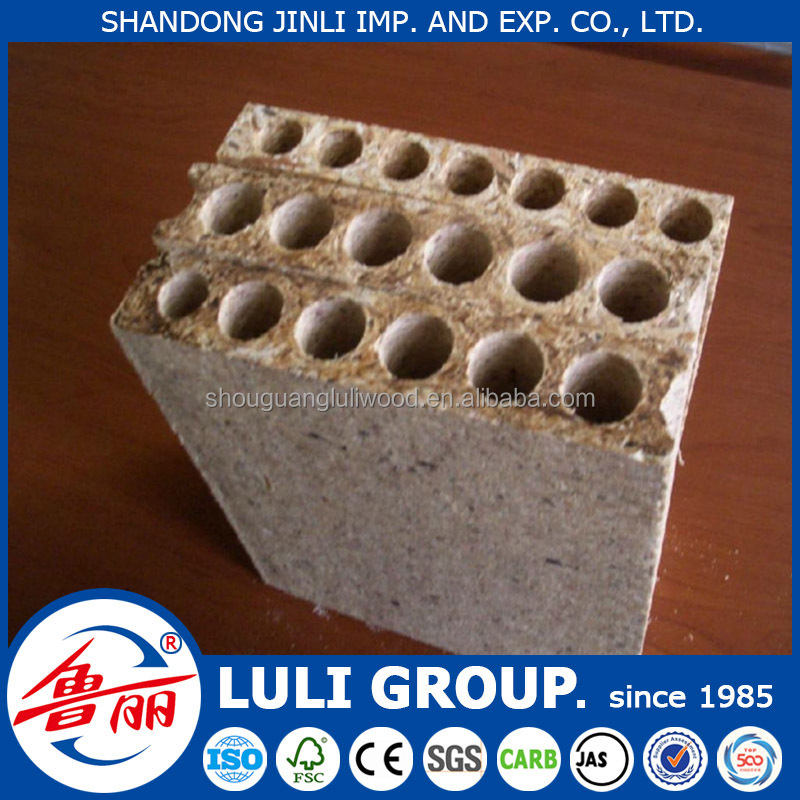 28mm tubular particle board, hollow chipboard,