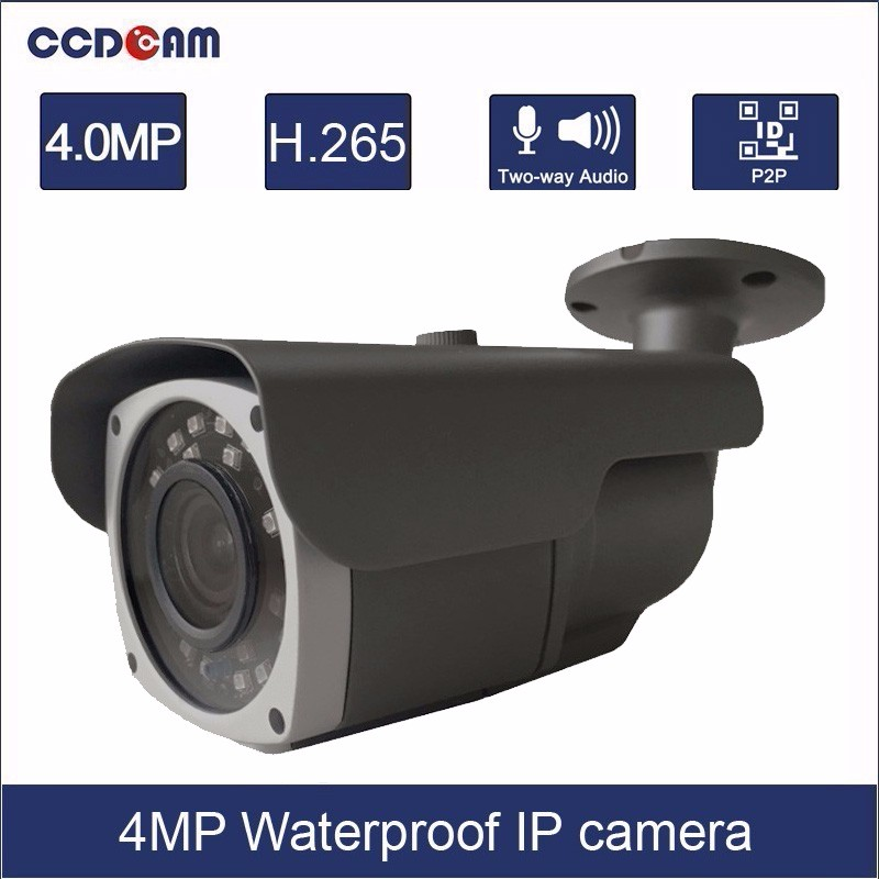 China CCTV Professional Manufacturer 4MP 2.8-12mm vari focal Lens waterproof IP66 network camera for outdoor security
