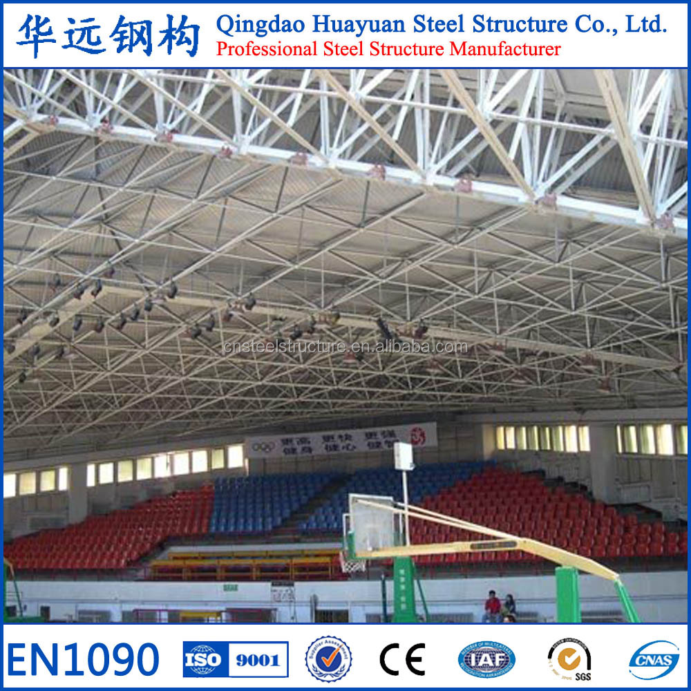 Long span steel structure multi-story basketball arena building