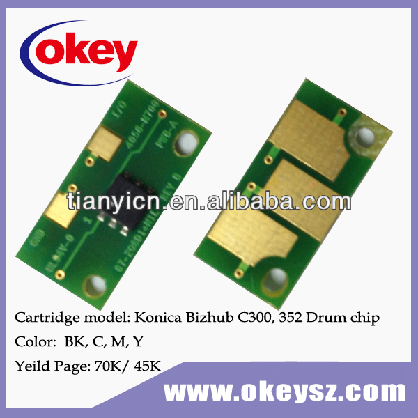 for konica minolta bizhub c300 drum reset chip