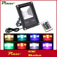 Dimmable Colo 10W LED RGB Flood Light, Remote Control Waterproof Outdoor Security Light, 4 Models with 16 Color Tones Spotlight