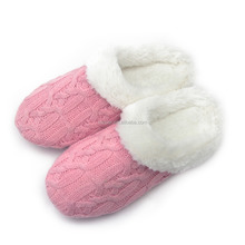 home slipper indoor female slippers ladies indoor cable knit slipper
