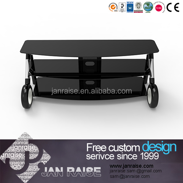 Black tv furniture outdoor tv stand with glass top