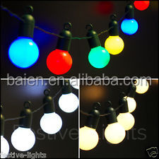 20 Globe Party Solar powered LED Bulb outdoor install String lights for decorate Christmas tree
