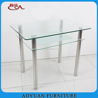 Home furniture general use and modern apperance glass top dining table