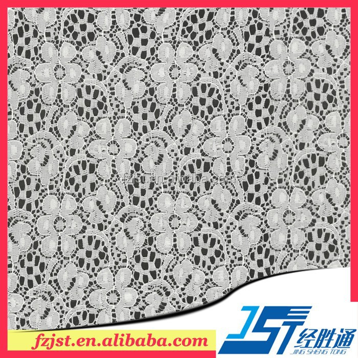 New york wholesale ivory lace fabric for clothing and shoes