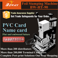 Desktop Small PVC Plastic Card Foil Stamping thermal printer