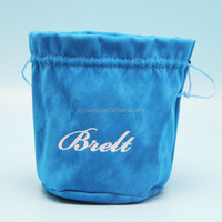 velvet jewelry cosmetic timepieces pouch with logo