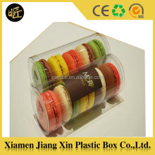 Food Grade PET Plastic Cylinder Box for cookies packaging