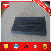 grey color fiberglass fold plisse window screen for door and window
