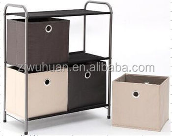 2016 Hot Sale Foldable Fabric Stainless Steel Storage Box
