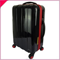 cute pink black white carry on hard suitcase lightweight luggage with 4 wheels