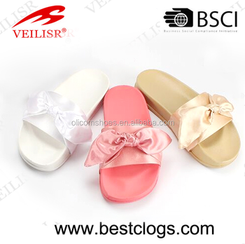 Slide Sandals with butterfly Knot latest design sandals shoes for girls summer shoes wholesale online china