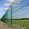 China Curved 2x2 galvanized welded wire mesh for fence panel