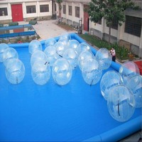 Inflatable transparent water ball for pool