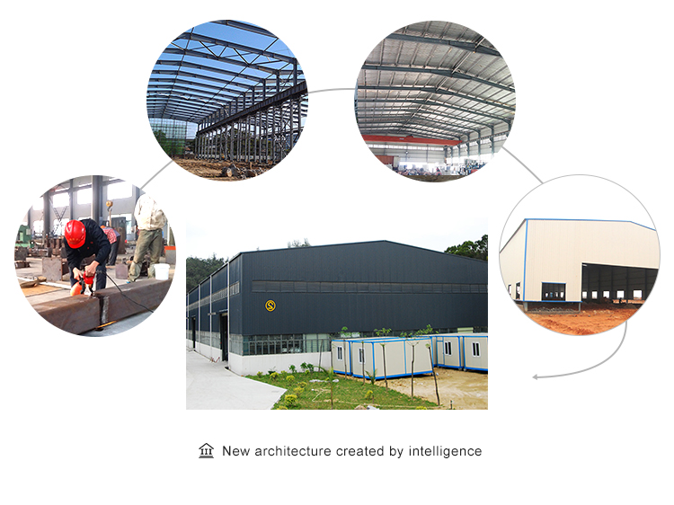 InfiCreation modern prefabricated steel warehouse customized for factory-3