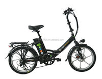 "foldable e bike with Alum wheels 20"" low step type"