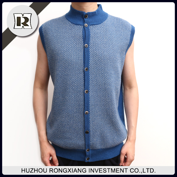 Factory supply fashion Man's jacquard knnited vest