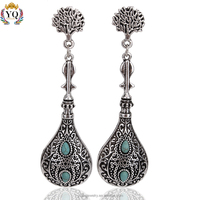 EYQ-00037 2016 new design retro style silver drop earrings