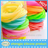 China manufacture cheap silicone rubber band candy color hair band for girls