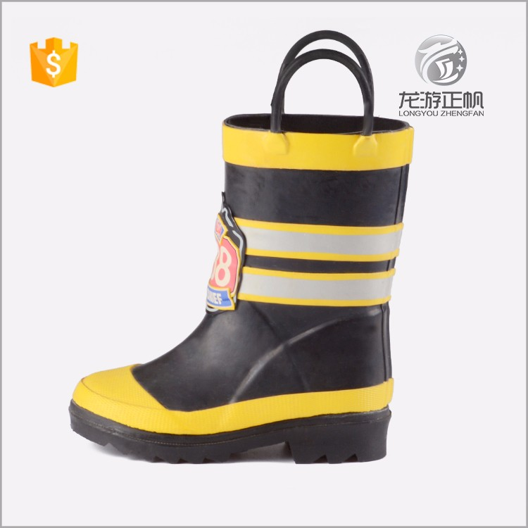 British style custom made childrens yellow wellington boots