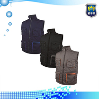 OEM Manufacturer Wholesale 2015 Summer Custom Navy Ladies Working Vest Uniform with Pockets