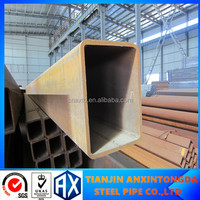 steel pipes rectangular ,galvanized,oiled treatment,Thick wall hollow sectiom,ASTM A500, big diameter welded tube