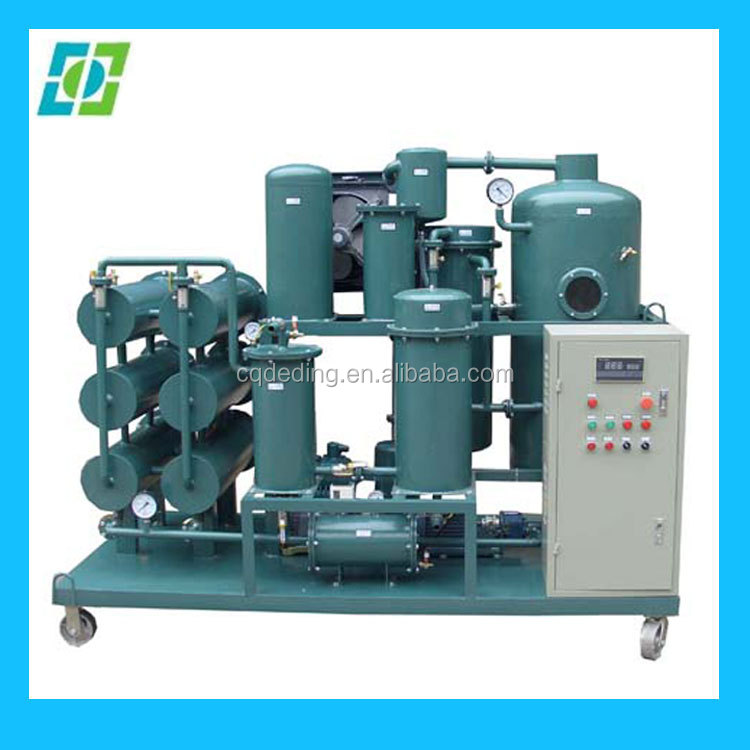commercial vaccum turbine oil purification plant,engine oil refining equipment