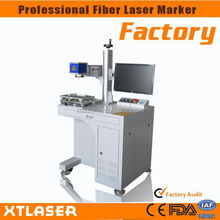 China factory popular in Europe desktop fiber laser machine with protective cover