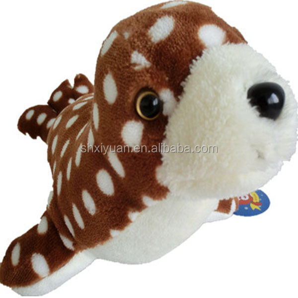 High quality soft sea animal costumes plush toy spotted seal