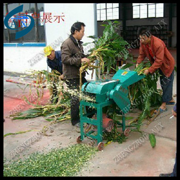 One function home use 400 kg per hour chaff cutter for wet stalk cut
