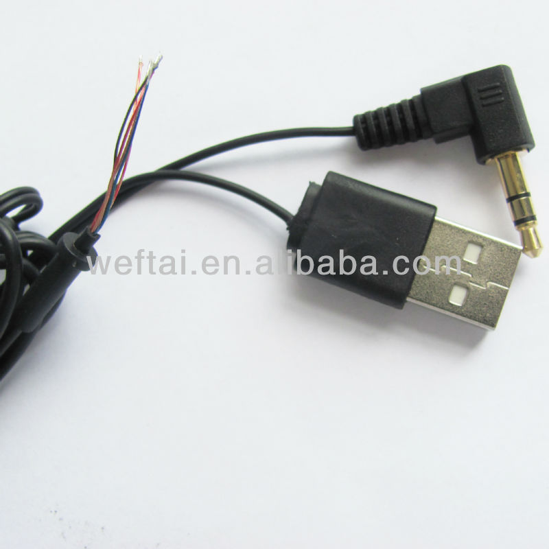 2.0 USB Male To 35MM Audio Cable