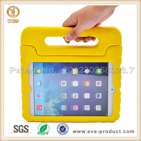 Kiddie Series Light Weight Handheld Soft Plastic Case for iPad Mini 2