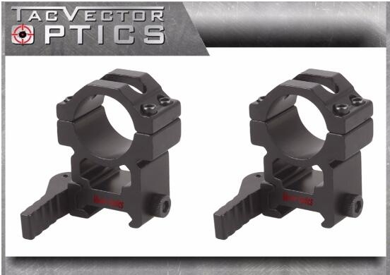 "Vector Optics Tactical 25.4mm 1"" Quick Release Scope High Picatinny QD Mount Ring Bracket fit GAMO BSA Leapers Riflescopes"