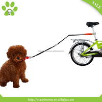 Hand free stainless steel dog bike leash, dog leash retractable, adjustable dog running chain