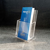 Clear Plexiglass Catalogue Display Lucite Brochure Book Holder Stand