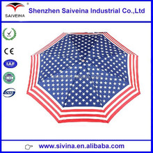 2015 new summer style fancy American flag automatic folding umbrella