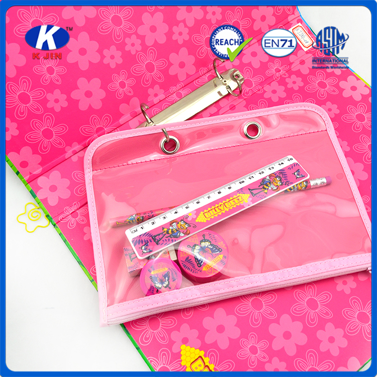 the bees 5pcs cute back to school stationery set with folder for kids