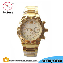 Huiers High quality factory price vogue chronograph watches stainless steel 5atm water resistant