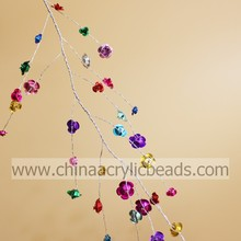 2015 new crystal hanging beaded centerpiece garland for wedding favour