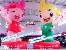 Custom inflatable cartoon for advertising/girl/boy/RED/GREEN/5M