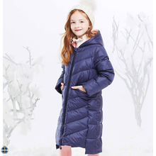 T-GC022 Wolesale Children Polyester Filled Winter Girls Down Long Coat